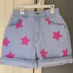 Vintage mom jean shorts with stars